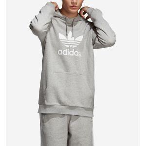 Adidas Trefoil Hoodie Sweat-Shirt de Sport à Capuche Homme, Gris Medium Grey Heather, Large