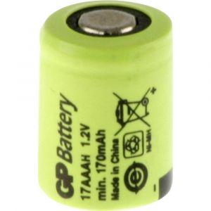 GP Batteries GP17AAAH Pile rechargeable spéciale 1/3 LR03 à tête plate NiMH 1.2 V 170 mAh