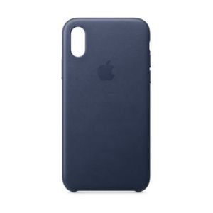 Apple Coque iPhone XS Cuir Bleu Nuit