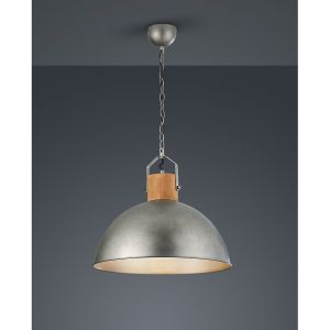 Trio Delhi suspension grande base e27 en métal couleur nickel antique 303400167 LIGHTING ITALIA