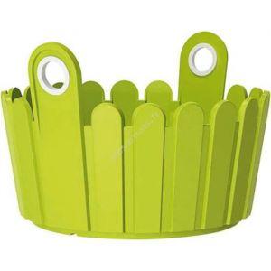 Emsa Coupe à fleurs landhaus - 26 x 25 cm - vert - Pot, Jardinière en plastique