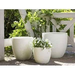 Beliani 3 cache-pots beiges Kannia