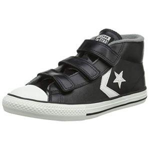 Image de Converse Lifestyle Star Player 3v Mid, Sneakers Basses Mixte Enfant, Multicolore (Black/Mason/Vintage White 001), 33 EU
