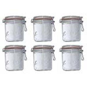 Le Parfait 750 D100 - 6 terrines en verre avec couvercle (750 ml)