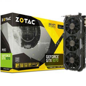 Zotac ZT-P10700B-10P - Carte Graphique GeForce GTX 1070 AMP! Extreme 8 Go DDR5