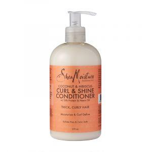 Shea Moisture Curl & Shine - Après-shampooing à l'huile de coco & hibiscus