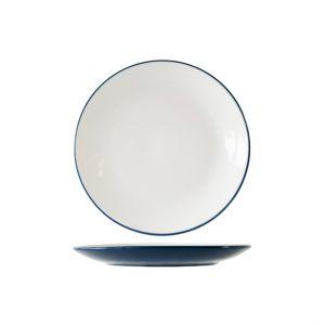 Cosy & Trendy Assiette plate ronde 27.2cm bleue - Lot de 6 - Vince