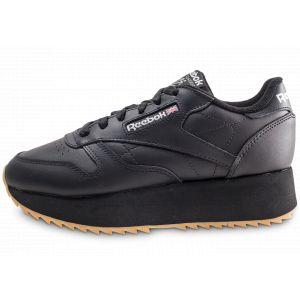 Reebok Classic Leather Double Noire Femme 37 Baskets
