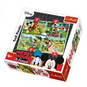 Trefl 4 puzzles Mickey Mouse & Friends 35 pièces