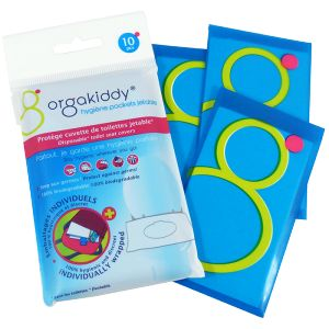 Orgakiddy Hygiène pockets jetable - Protège cuvette de toilettes jetable