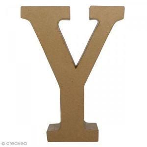 decopatch Lettre fantaisie «Y» - papier mâché