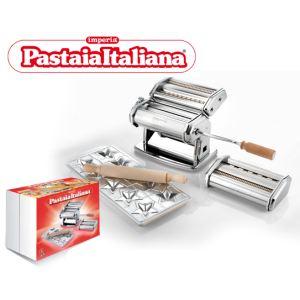 Imperia 508 - Machine à pâtes Pastaia Italiana manuelle avec 4 accessoires