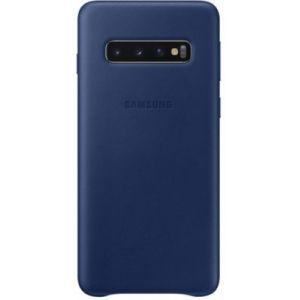Samsung Coque S10 Cuir bleu marine