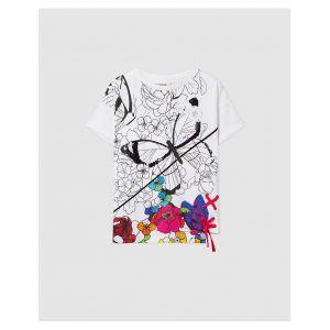 Desigual Tshirt avec papillon Blanc - Taille 10 Ans