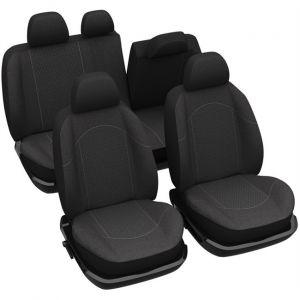 Norauto Jeu complet de housses universelles voiture spécial 4x4/SUV Sofia noires