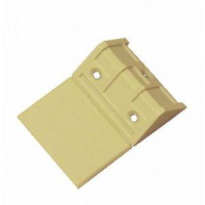 Maison Prunier Taquet équerre cache attaché | Finition: Blanc - Type: 3 trous - Dimension (mm): L.44 x H.24 x P.23