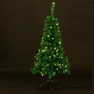 Sapin de Noël artificiel vert 80 LED (1m20)
