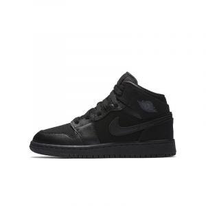 Nike Chaussure Air Jordan 1 Mid pour Enfant plus âgé - Noir - Taille 38