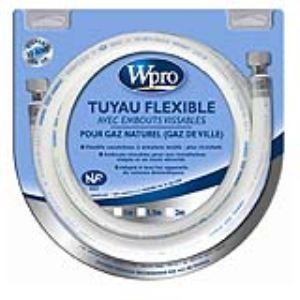 Wpro TNC158 - Tuyau flexible avec embouts vissables pour gaz naturel (1.50 m)
