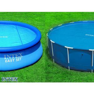 Intex 59955 - Bâche à bulles 160 microns Ø 5,34 m pour piscine tubulaire ronde Ø 4,88 et 5,49 m et autostable ronde Ø 5,49 m