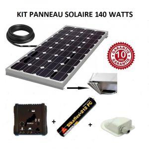 Antarion Kit panneau solaire 140w monocristallin pour camping car