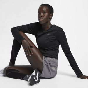 Nike Haut de running Miler pour Femme - Noir - Taille M - Femme