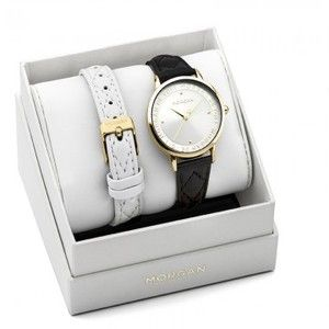 Morgan M1279 - Coffret montre pour femme avec 2 bracelets