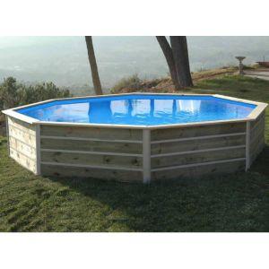 Water'clip Piscine Bois Basilan 428x428x76cm