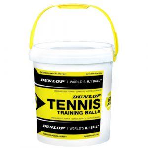 Dunlop Balles tennis Training Bucket - Yellow - Taille 60 Balles