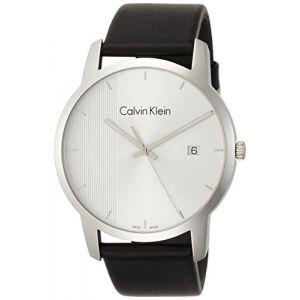 Calvin Klein Homme Analogique Quartz Montre avec Bracelet en Cuir K2G2G1CX