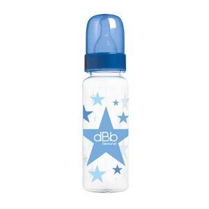 dBb Remond Biberon Polypropylène au Motif Étoiles Forme Cylindrique Bleu Bulle 360 ml