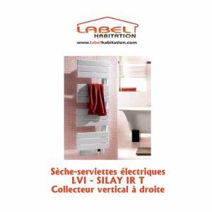 Lvi 3870022 - Sèche-serviettes Silay IR T soufflant collecteur vertical à droite 750 Watts
