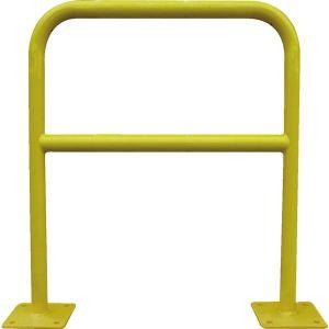 Viso BAR400 - Barrière de sécurité acier avec platine tube diamètre 40 mm jaune 1000 x 1000 mm
