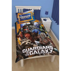 Character World Les Gardiens de la Galaxie - Housse de couette et oreiller (135 x 200 cm)
