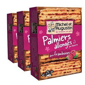 Michel et augustin Palmiers Allongs Framboises 120 g