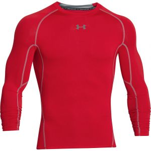 Under Armour Under Armour Hg T-Shirt manches longues de compression Homme Red/Steel FR : XL (Taille Fabricant : XL)