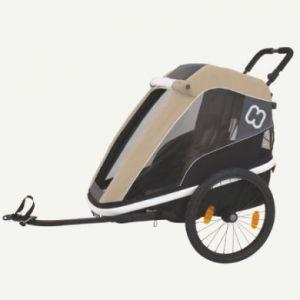 Hamax Avenida One - Remorque vélo - beige/noir Remorques pour enfant