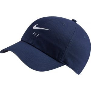 Nike Casquette de football réglable FFF Heritage86 - Bleu - Taille Einheitsgröße - Unisex