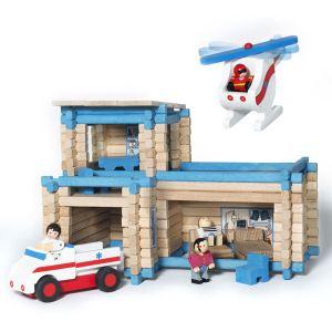 Jeujura Centre de premiers secours avec hélicoptère et ambulance