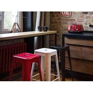 Beliani 2 tabourets de bar rouge de 61 cm Cabrillo