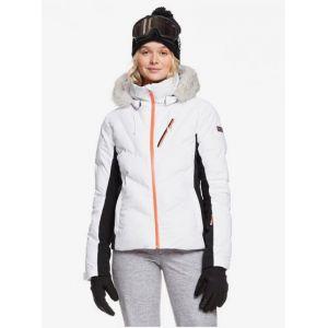 Roxy Snowstorm Veste Femme, bright white M Vestes sports d'hiver