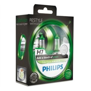 Philips 2 Ampoules H7 ColorVision Verte 60/55 W 12 V