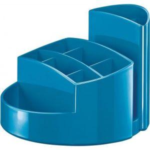 Han 17460-94 - Pot à crayons RONDO, 9 compartiments, en PS, coloris bleu ciel