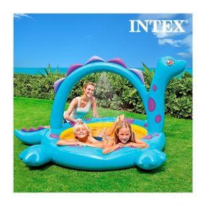 Intex Piscine Gonflable avec douche dinosaure