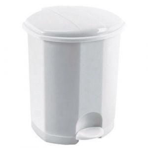 Rossignol Poubelle pédale plastique blanc 7 litres