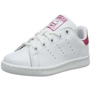 Adidas Stan Smith Enfant Blanche Et Rose Baskets/Tennis Enfant