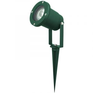 Harms Lampadaire luminaire extérieur borne à piquer terrasse jardin aluminium vert IP44 103101