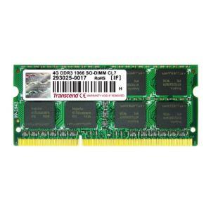 Transcend TS4GAP1066S - Barrette mémoire 4 Go DDR3 1066 MHz CL7 204 broches