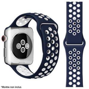 Ibroz Bracelet Apple Watch Sport 44mm bleu/blanc