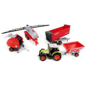 John World Claas - Tracteur avec remorque